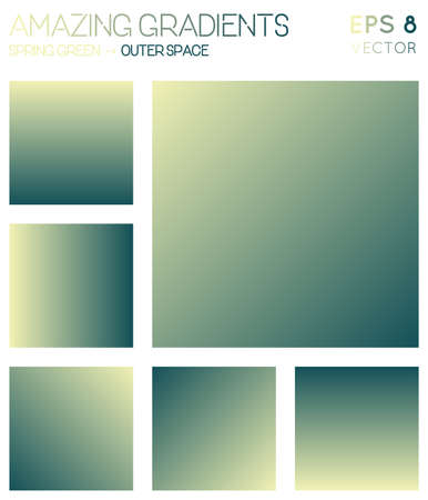 Colorful gradients in spring green, outer space color tones. Admirable gradient background, beautiful vector illustration. Illustration