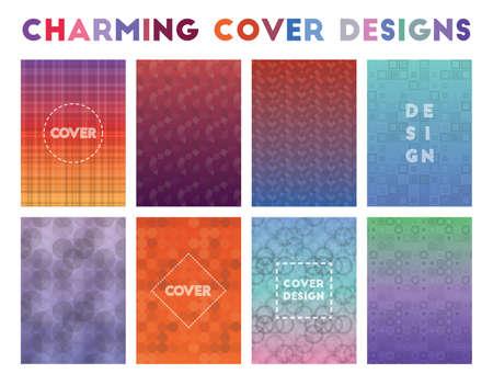 Charming Cover Designs. Actual geometric patterns. Fascinating background. Vector illustration. Ilustração