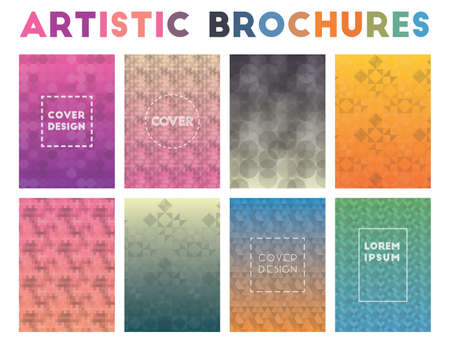 Artistic Brochures. Adorable geometric patterns. Ecstatic background. Vector illustration.