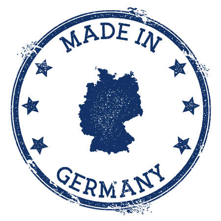 Made in Germany stamp. Grunge rubber stamp with Made in Germany text and country map. Nice vector illustration. Illusztráció