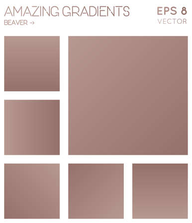 Colorful gradients in beaver color tones. Actual gradient background, bewitching vector illustration.