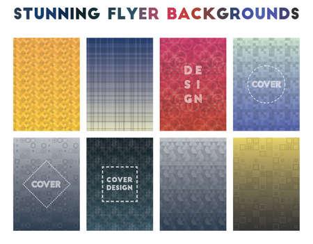 Stunning Flyer Backgrounds. Alluring geometric patterns. Exceptional background. Vector illustration. Illustration