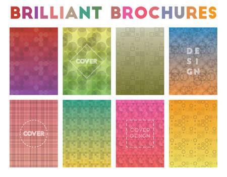Brilliant Brochures. Adorable geometric patterns. Amazing background. Vector illustration.