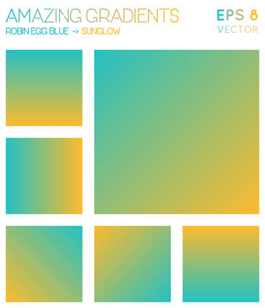 Colorful gradients in robin egg blue, sunglow color tones. Adorable gradient background, captivating vector illustration.