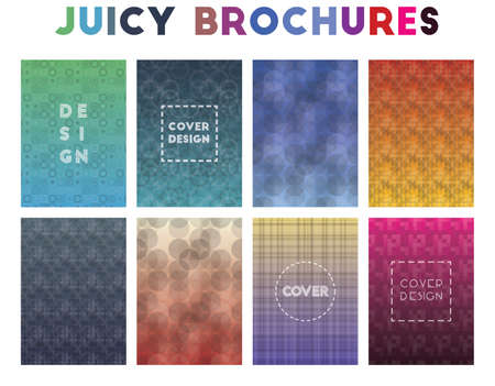 Juicy Brochures. Alive geometric patterns. Majestic background. Vector illustration.