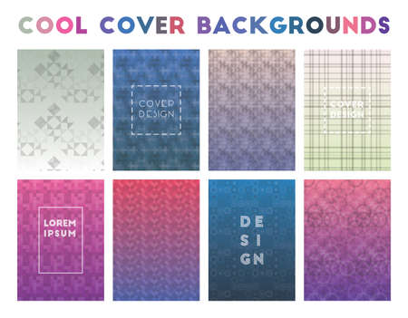 Cool Cover Backgrounds. Actual geometric patterns. Emotional background. Vector illustration.