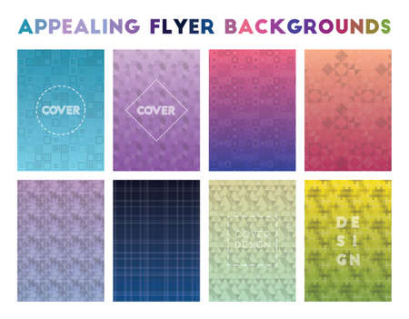 Appealing Flyer Backgrounds. Actual geometric patterns. Alluring background. Vector illustration.