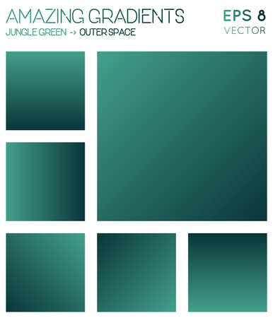 Colorful gradients in jungle green, outer space color tones. Admirable gradient background, surprising vector illustration.
