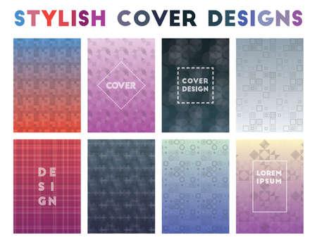 Stylish Cover Designs. Adorable geometric patterns. Splendid background. Vector illustration.
