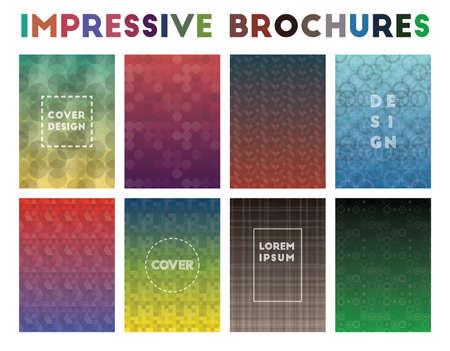 Impressive Brochures. Adorable geometric patterns. Classic background. Vector illustration. Illustration