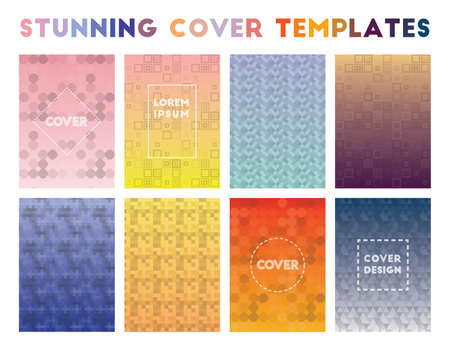 Stunning Cover Templates. Actual geometric patterns. Bewitching background. Vector illustration.