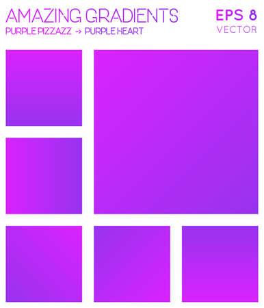 Colorful gradients in hot magenta, purple heart color tones. Actual gradient background, ecstatic vector illustration.