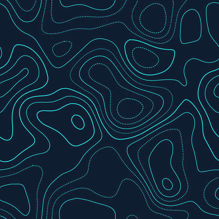 Topographic map background. Actual topography map. Futuristic seamless design, powerful tileable isolines pattern. Vector illustration.