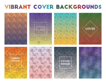 Vibrant Cover Backgrounds. Actual geometric patterns. Authentic background. Vector illustration.