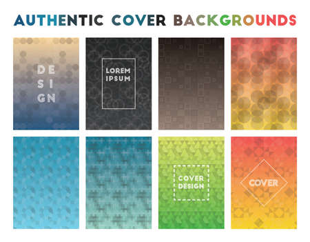 Authentic Cover Backgrounds. Admirable geometric patterns. Pleasant background. Vector illustration.