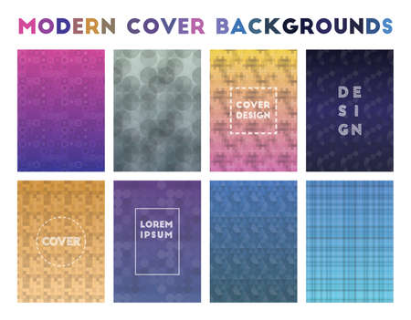 Modern Cover Backgrounds. Alive geometric patterns. Classy background. Vector illustration.