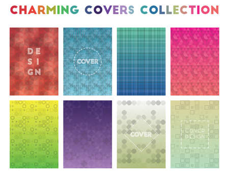 Charming Covers Collection. Alluring geometric patterns. Enchanting background. Vector illustration.