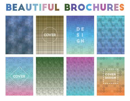 Beautiful Brochures. Amazing geometric patterns. Artistic background. Vector illustration.