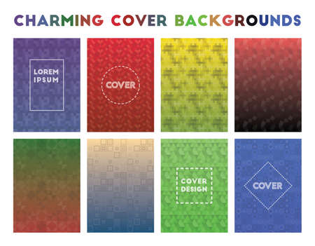 Charming Cover Backgrounds. Alive geometric patterns. Alluring background. Vector illustration.
