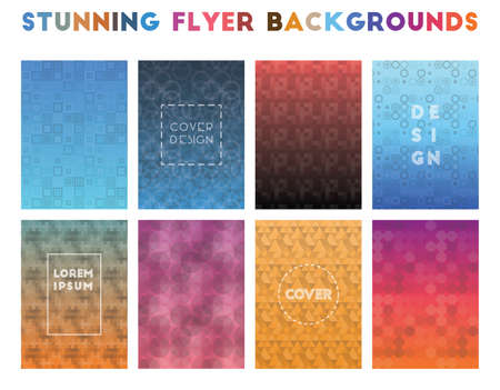 Stunning Flyer Backgrounds. Alluring geometric patterns. Pretty background. Vector illustration.