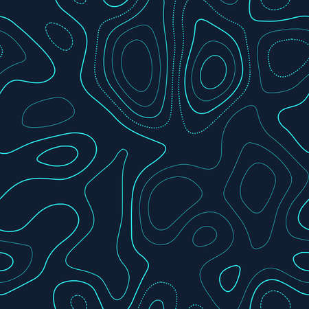 Topographic map. Actual topography map. Futuristic seamless design, lovely tileable isolines pattern. Vector illustration. Ilustração