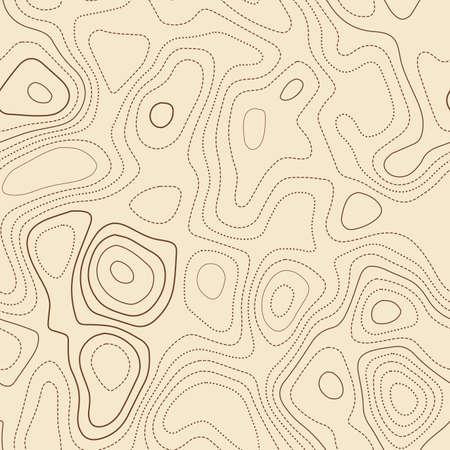Terrain topography. Actual topographic map. Seamless design, charming tileable isolines pattern. Vector illustration. Illusztráció