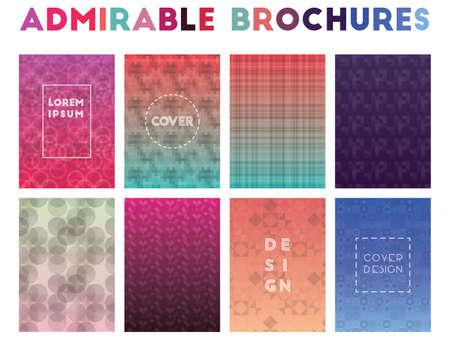 Admirable Brochures. Alluring geometric patterns. Great background. Vector illustration. Illustration
