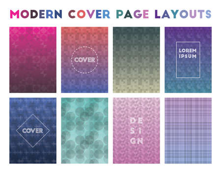 Modern Cover Page Layouts. Alluring geometric patterns. Unique background. Vector illustration.