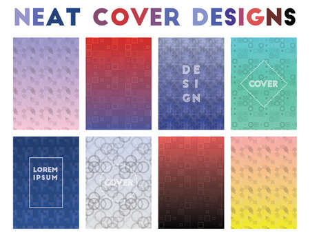 Neat Cover Designs. Admirable geometric patterns. Exquisite background. Vector illustration.