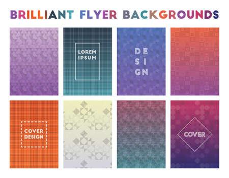 Brilliant Flyer Backgrounds. Adorable geometric patterns. Worthy background. Vector illustration.