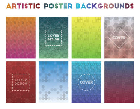 Artistic Poster Backgrounds. Alluring geometric patterns. Mesmeric background. Vector illustration.