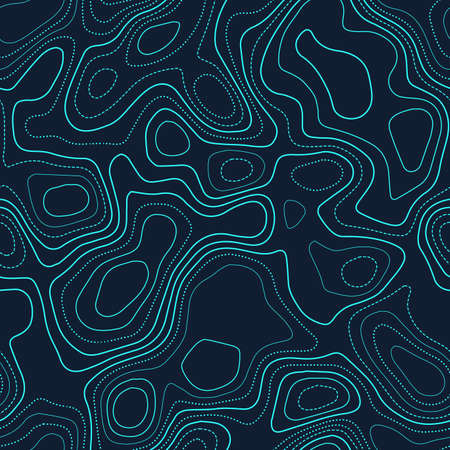 Abstract topography. Actual topography map. Futuristic seamless design, dramatic tileable isolines pattern. Vector illustration. 일러스트