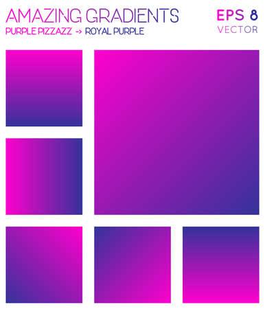 Bunte Farbverläufe in heißem Magenta, königsvioletten Farbtönen. Bewundernswerter Hintergrund mit Farbverlauf, hervorragende Vektorillustration. Vektorgrafik