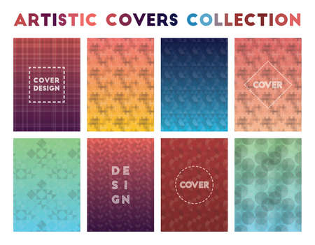 Artistic Covers Collection. Admirable geometric patterns. Fine background. Vector illustration.