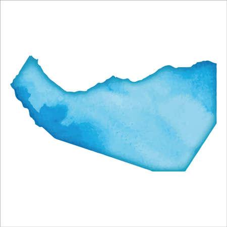 Map of Somaliland. Colourful watercolor Somaliland map. Beautiful country vector illustration.