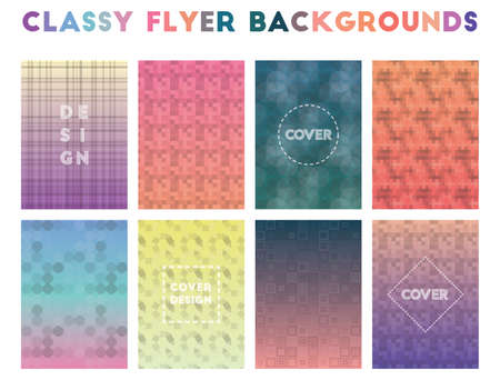 Classy Flyer Backgrounds. Alive geometric patterns. Remarkable background. Vector illustration.