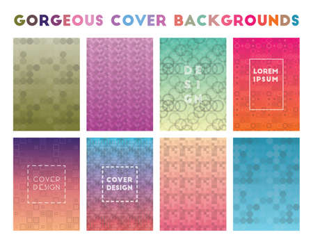 Gorgeous Cover Backgrounds. Adorable geometric patterns. Exotic background. Vector illustration.