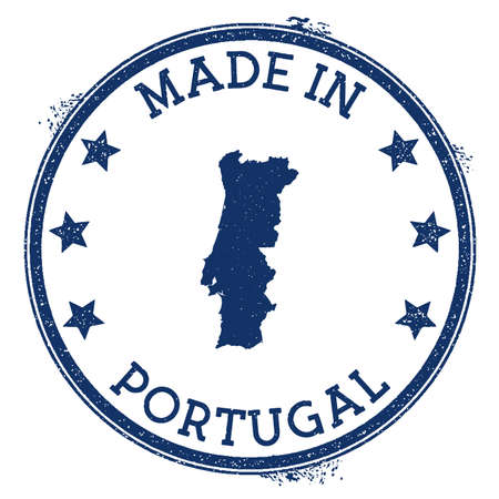 Made in Portugal stamp. Grunge rubber stamp with Made in Portugal text and country map. Authentic vector illustration. Banque d'images - 124675651