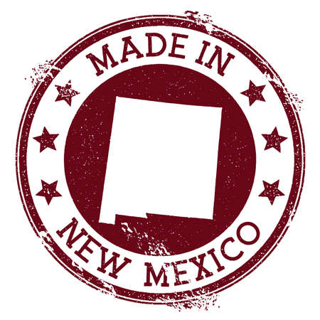 Made in New Mexico stamp. Grunge rubber stamp with Made in New Mexico text and us state map. Divine vector illustration. Banque d'images - 124675665