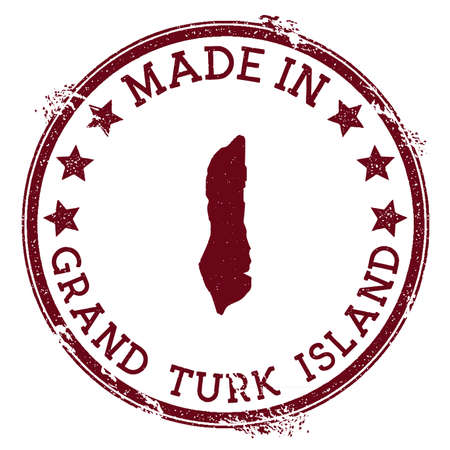 Made in Grand Turk Island stamp. Grunge rubber stamp with Made in Grand Turk Island text and island map. Perfect vector illustration. Banque d'images - 124675669