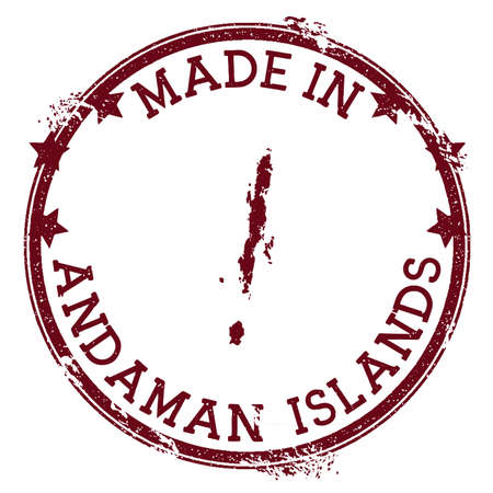 Made in Andaman Islands stamp. Grunge rubber stamp with Made in Andaman Islands text and island map. Astonishing vector illustration. Banque d'images - 124675670