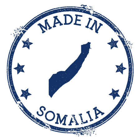 Made in Somalia stamp. Grunge rubber stamp with Made in Somalia text and country map. Excellent vector illustration. Banque d'images - 124675674