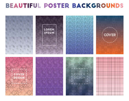 Beautiful Poster Backgrounds. Alluring geometric patterns. Decent background. Vector illustration.