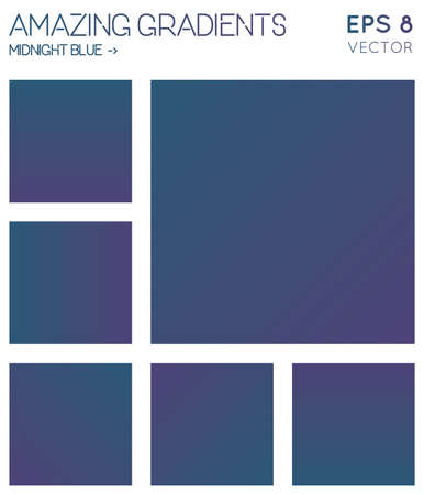 Sfumature colorate nei toni di colore blu notte. Sfondo sfumato effettivo, illustrazione vettoriale cool. Vettoriali