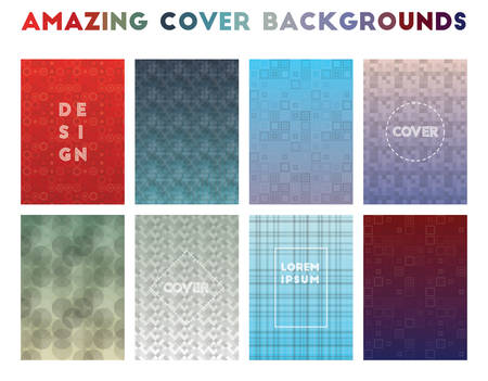 Amazing Cover Backgrounds. Alluring geometric patterns. Appealing background. Vector illustration. Illustration