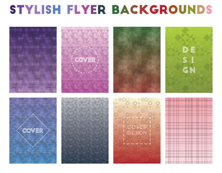 Stylish Flyer Backgrounds. Alluring geometric patterns. Indelible background. Vector illustration. Illusztráció