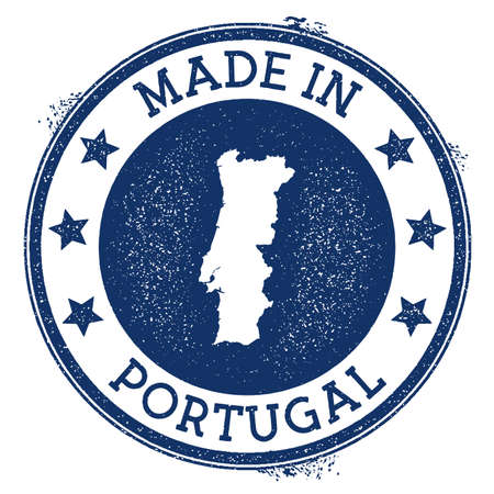 Made in Portugal stamp. Grunge rubber stamp with Made in Portugal text and country map. Attractive vector illustration.
