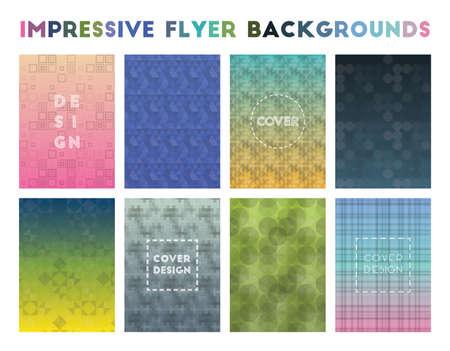Impressive Flyer Backgrounds. Admirable geometric patterns. Glamorous background. Vector illustration. 向量圖像