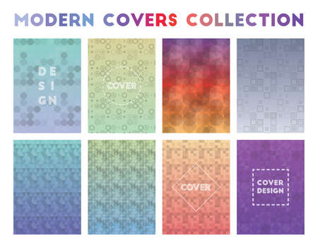 Modern Covers Collection. Adorable geometric patterns. Resplendent background. Vector illustration.