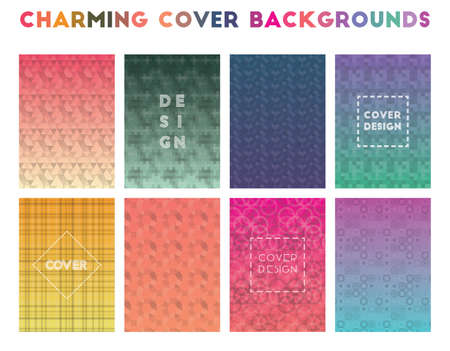 Charming Cover Backgrounds. Alluring geometric patterns. Glamorous background. Vector illustration.